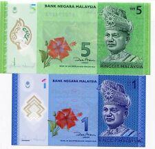 MALAYSIA SET 2 PCS 1 5 RINGGIT 2012-2014 P 51 52 UNC