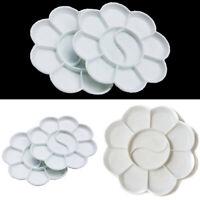 5Pcs 10-Well Flower Art Paint Tray Artist Watercolor Plastic Palette Supply New