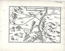 Antico mappe, gouvernement DE Valance