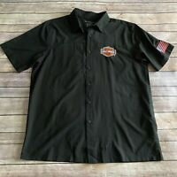 Harley Davidson Black Short Sleeve Medium M Men Shirt Port Charlotte Black Widow