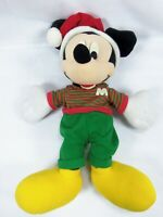 "Vintage Disney Mickey Mouse Holiday Dress Doll 17"" Plush Stuffed"