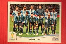 Panini BRASIL 2014 N. 413 TEAM ARGENTINA WITH BLACK BACK TOPMINT!!