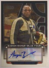 2018 Star Wars Galactic Files Autograph Ariyon Bakare as Barion Raner Auto /150
