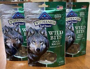 3 Natural Healthy Blue Buffalo Wilderness BITS Dog Treats DUCK RECIPE. Exp2/9/21
