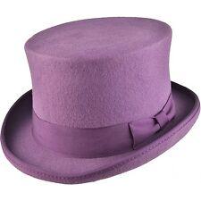 Top Hat - High Quality 100% Wool Felt Black White Red Grey Navy Brown Burgundy