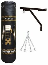 MADX 5ft Filled Heavy Punch Bag + Chain + Bracket Punchbag kick boxing set MMA