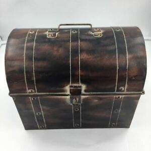 "Nautical Metal Pirate Treasure Chest, Hide Loot, Gold, or more... 9""x6"""