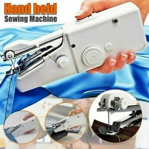 Mini Portable Handheld Cordless Sewing Machine Hand Held Stitch Home Clothes