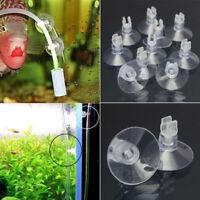 10x Aquarium Saugnapf Fisch Saugnäpfe für 4mm Luftschlauch Sauger Halterclip