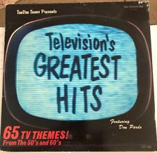 Televisions Greatest Hits, LP Record, Tee Vee Toons Records, 1985