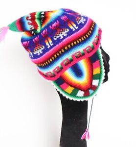 Peruvian Hat - Beanie - Fair Isle Multicolours - Small