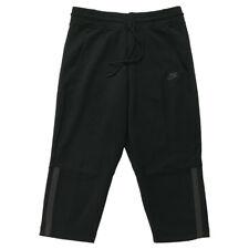 Women's Nike Tech Fleece Capri Pants Sweatpant ALL BLACK GREY 908824-010 L