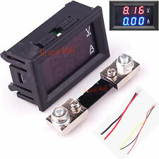 "DC 100V Amp Volt Meter Voltmeter Ammeter LED Current Shunt 300mS 0.28"" tube"