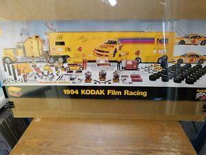 Sterling Marlin 1994 Kodak Racing Team Kenworth Car Hauler Poster Vintage