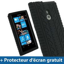 Noir Pneu Étui Housse Case Gel Silicone pour Nokia Lumia 800 Windows Smartphone