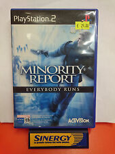 MINORITY REPORT - everybody runs-playstation 2 sony,nuovo italiano non sigillato