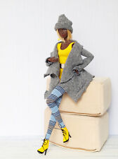 Grey & yellow autumn outfit for  FR, Poppy Parker, Nu face by Olgaomi