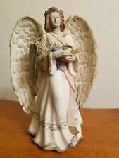 New Roman Inc. Autumn Harvest Themed Resin Angel Figurine 8 1/4""