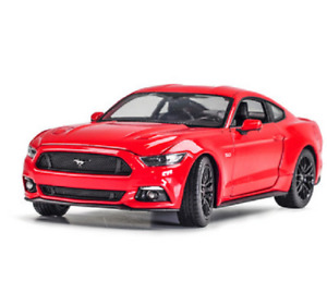 Welly 1:24 2015 Ford Mustang GT Red 5.0 Red Diecast Model Racing Car New in Box
