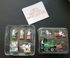 The Liberty Falls Hand Painted Pewter Collection ~ 8 Figurines ~ Ah199
