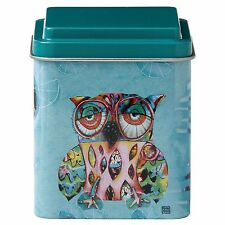 Allen Designs Cat and Owl D119 Owl Storage Tin