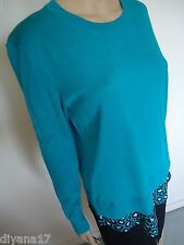 New Michael Kors sweater, top, Size M, long sleeve, Tile Blue, $99.50