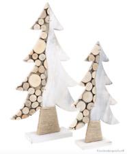 DEKO Holztanne Baumscheiben Weihnachten