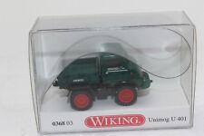 Wiking 036803 Unimog U401 Mossgreen Twin Tyres 1:87 H0 New Original Packaging