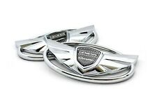 Front grille & Rear trunk Chrome EMBLEM for Hyundai 2010-2015 Genesis coupe
