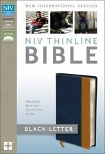 NIV, Thinline Bible Duo-Tone Leather Blue/Tan Black letter edition