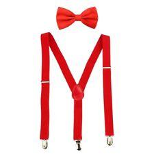 HBF Durable Brace and Bow Tie Set Adjustable Mens Trouser Pants Braces Suspender
