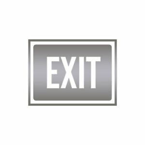 Exit Business Sign - Vinyl Decal Sticker - Multiple Colors & Sizes - ebn4020