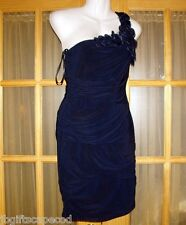 Navy Blue Cocktail/Evening Dress - One Shoulder - Sz 7/8 - Brand new - Lovely!