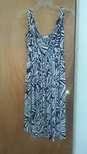 London Times black and white baby doll dress size 8