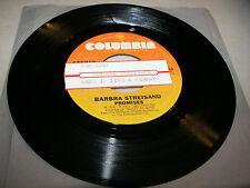 Barbra Streisand Promises / Make It Like A Memory 45 VG+ Juke Box