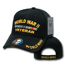 Black World War II WWII Veteran WW2 Military Vet Baseball Ball Cap Hat Caps Hats