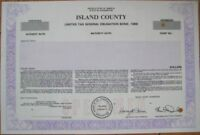 SPECIMEN Bond Certificate: Island County, Washington WA
