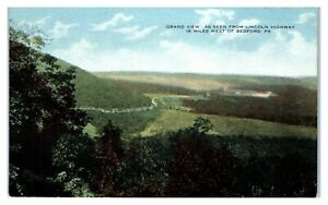 Grand View from Lincoln Highway near Bedford, PA Postcard *202