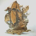 Vintage Syroco 29x20 Gold Pirate Ship Large Wall 3D Art Hanging 1958 (3663)