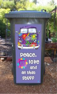 Kombi peace wheelie bin sticker