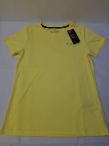 New Womens Under Armour Loose HeatGear AU T-Shirt Shirt White Blue Gray Green