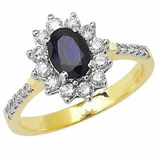 Engagement Yellow Gold Sapphire Fine Rings