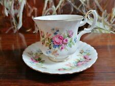 ROYAL ALBERT England MOSS ROSE - edle kleine Kaffeetasse mit Untertasse
