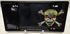 Skull and Crossbones Novelty Airbrushed License Plate  W/ FREE BLACK FRAME