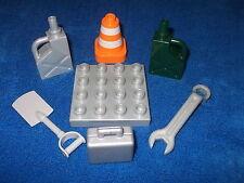 Lego Duplo Ville Baustelle PALLETTE PALETTE Kanister Pilone Schaufel Koffer usw.