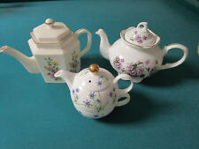 ARTHUR WOODS ENGLAND STAFFORDSHIRE TEAPOTS FLORAL AND TEA FOR ONE - PICK ONE