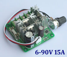 DC 6V-90V 15A Pulse Width Modulator PWM DC Motor Speed Controller Deutsche Post