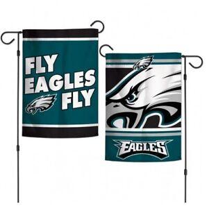 """PHILADELPHIA EAGLES 2 SIDED """"FLY EAGLES FLY"""" 12""""x18"""" GARDEN FLAG NEW & LICENSED"""