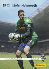 Christofer HEIMEROTH + Borussia Mönchengladbach + 2013/2014 + Autogrammkarte
