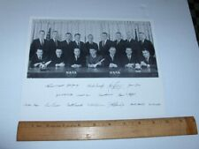 VINTAGE NASA EARLY ASTRONAUT PORTRAIT WITH PICTURE OF SIGNATURES B&W LITHO